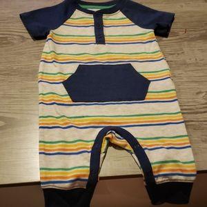 $4 w/ bundle! Baby Short Sleeve Striped Jumpsuit